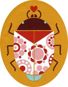 Ashley Barron, love bug, cute, heart, directory of illustration, commercial illustration, love, valentine, valentine's day