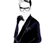 Francesca Waddell, men's fashion, suit, glasses, illustration, illustrator, commercial illustration, fashion, fashion illustration, fashion art, directory of illustration