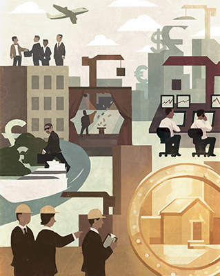 Mark Boardman, wealth, commercial illustration, illustration, economics, money, conceptualization, directory of illustration, professional illustrator,
