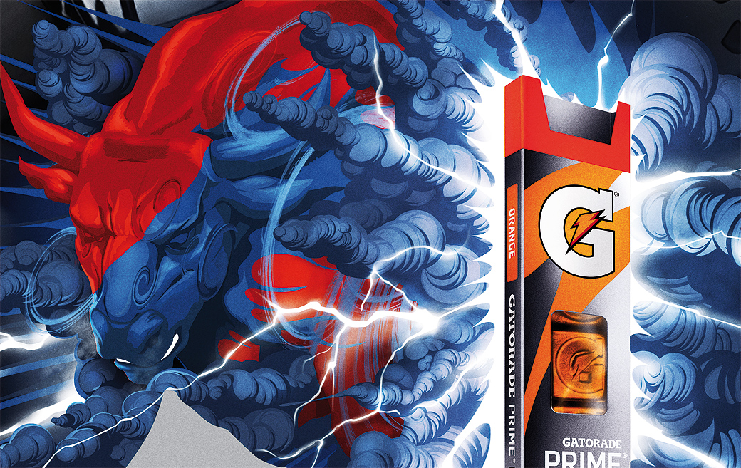 gatorade, adhemas batista, graphic design, illustration, directory of illustration