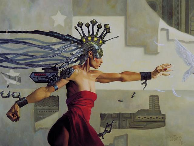 Allan Pollack, Science Fiction, Illustration, Art, Directory of Illustration, cosmic