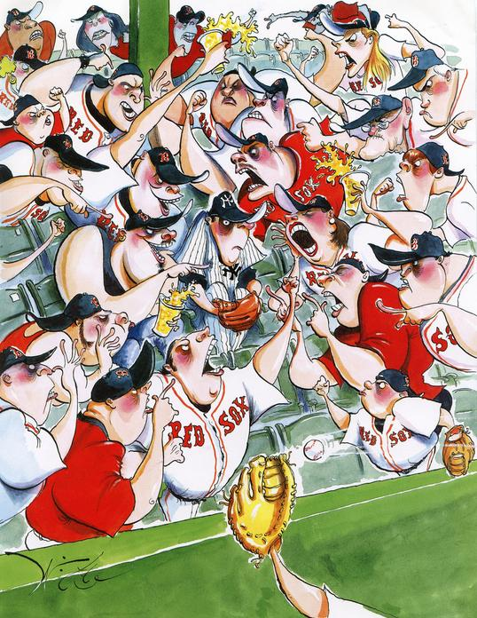 Michael Witte, illustration,directory of illustration, line drawing, art, graphic art, directory of illustration share, featured five, august feature, featured artists august, funny art, political cartoons, satire cartoons, the new yorker, red sox, new york