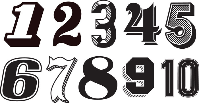 Tristan kerr vintage numbers artists 39 blogs for Classic house number fonts