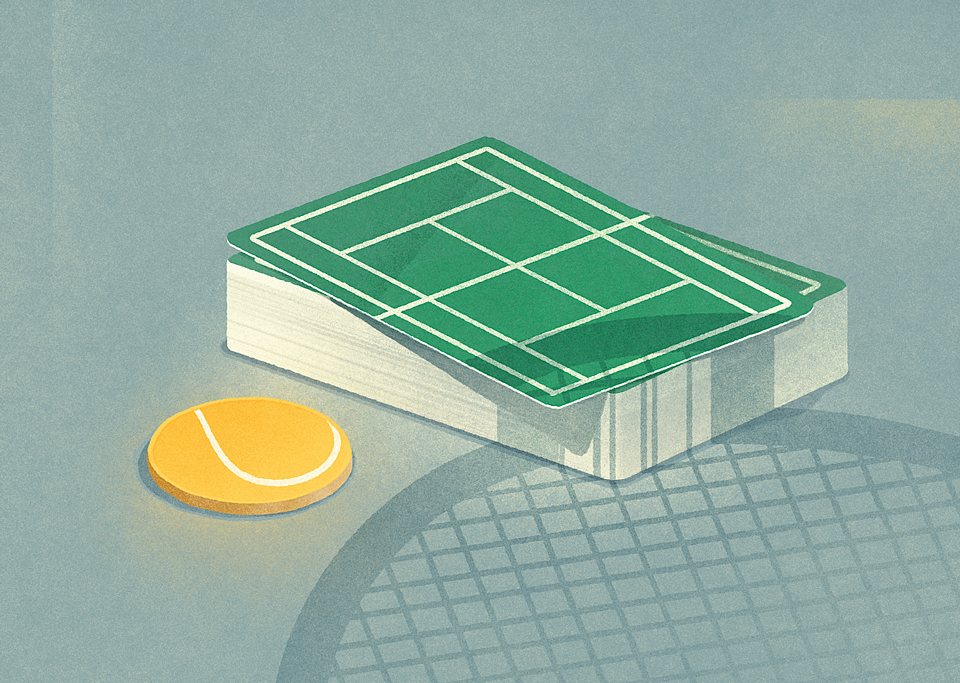 Tennis lessons from the game of poker