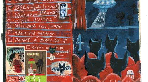 Black-cat-a-day 4: Midnight matinee