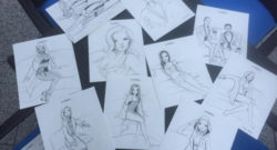 A few of many sketches by J. David McKenney from a live drawing…