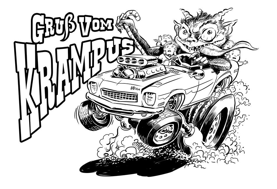 Krampus Christmas Card Art – Artists\' Blogs