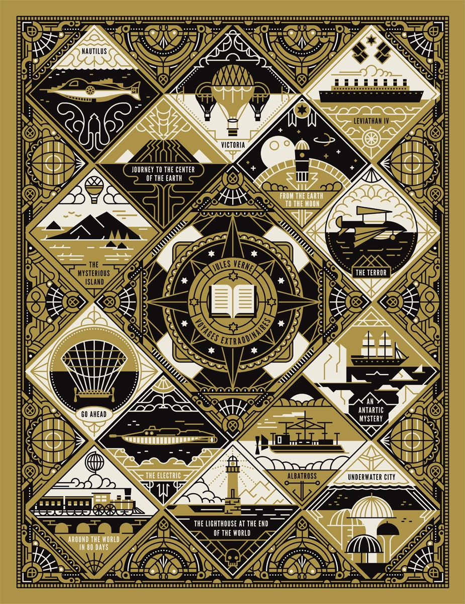 MUTI's 'Voyages Extraordinaire', Self-initiated category winner in 2015 AOI Illustration Awards