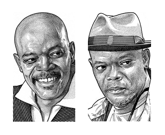 Wall Street Journal Hedcuts of Samuel L. Jackson…and Kong – Artists ...