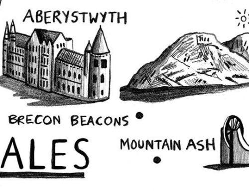 Wales Map Illustration