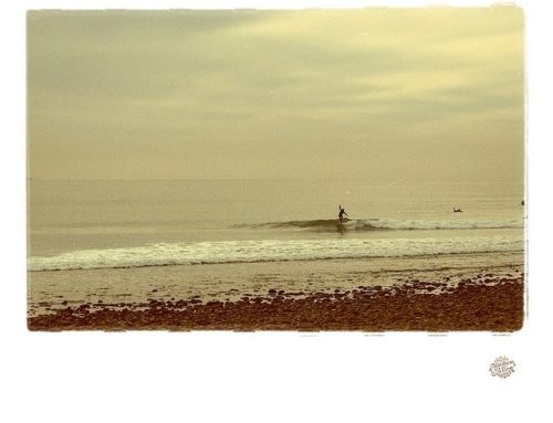 Waves were pumping today but this one's from a gentler time….