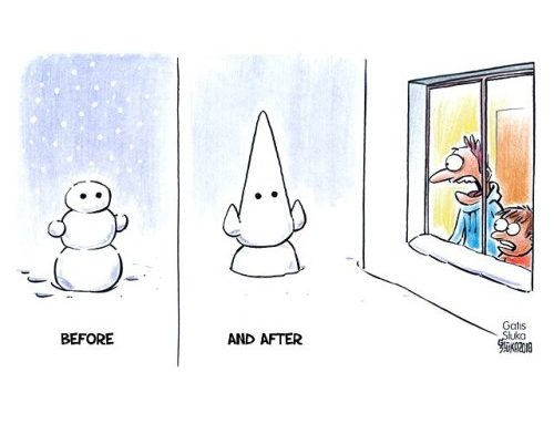 ☃️ before and ⛄️ after ❄️