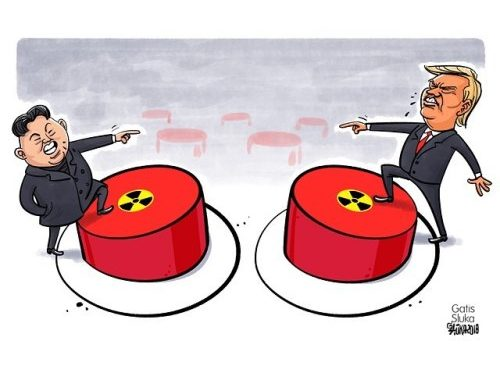 Trump one year into the presidency 🔴🇺🇸🇰🇵🔴 https://karikatura.lv