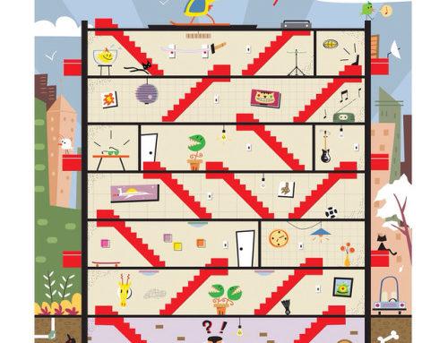 Building, game illustration created for Recreio, a brazilian…