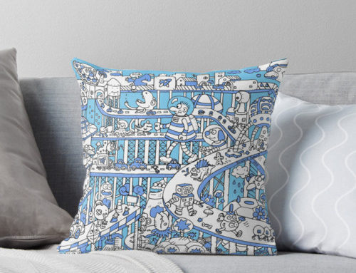 In my #Redbubble store this week: Blue Busy City, Throw…