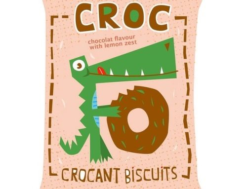 Croc biscuits, personal work, 2014 . . . . #ilustracaoinfantil…