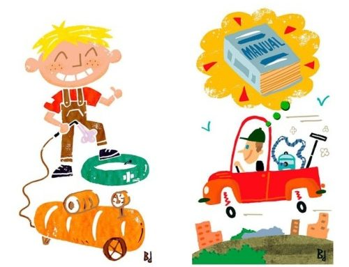 2011 spot illustrations for Reader's Digest Brazil,…