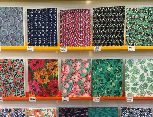 Wall o' patterned notecards! Can't believe…
