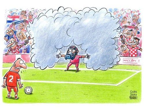 Horvātu fani ir iecienījuši dūmu sveces. 🇭🇷⚽️😈 #croatia…
