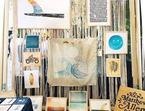 A little peek inside my booth at @westcoastcraft 📷 @amynavor…