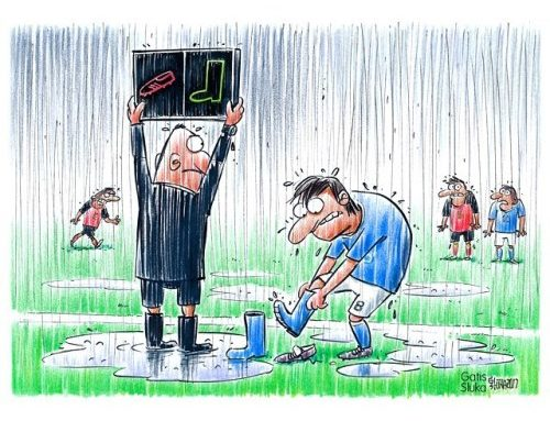 ⚽️ #worldcup #footballcartoons #football #footballcartoon #rain…