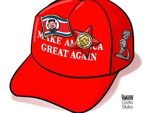 🇺🇸🇰🇵🇷🇺🤔🇪🇺 #greatagain #makeamericagreatagain #politicalcartoon…