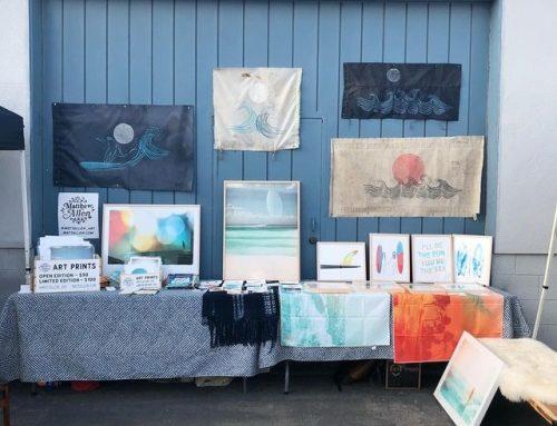 My set up at @costamesaceramics summer market…