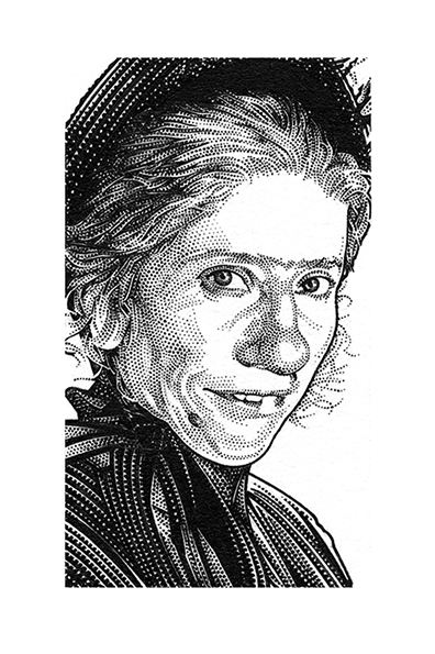"""Wall Street Journal Hedcut of Emma Thompson for """"Nanny McPhee ..."""