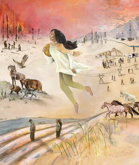 grace russell manifest destiny illustration
