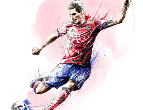 Illustration For FC Bayern Munich: Leon Goretzka