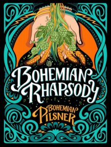 kate forrester bohemian rhapsody beer label