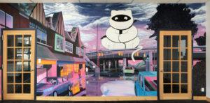 sean vecchione ninjacat mural