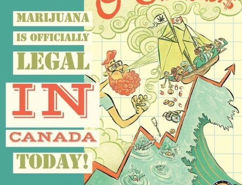 Marijuana is officially legal in Canada today! Illustration for…