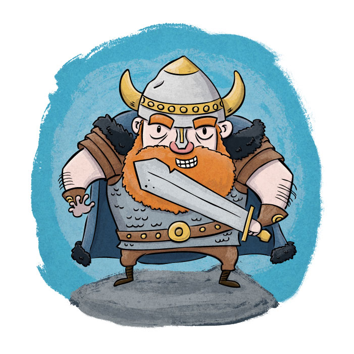 Viking SCBWI Highlighter illustration by children's book illustrator Scott DuBar