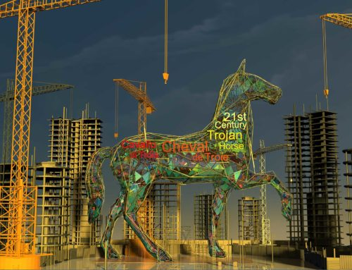 Nathan Smith Illustrates Trojan Horse to Depict Property Market
