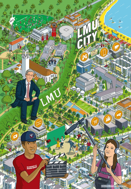 LMU City Advertising Campaign Illustration