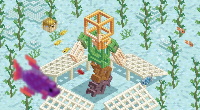 Minecraft Coral Crafters Animation illustrated by Rod Hunt