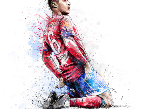 Sport Illustration For FC Bayern Munich: Thiago