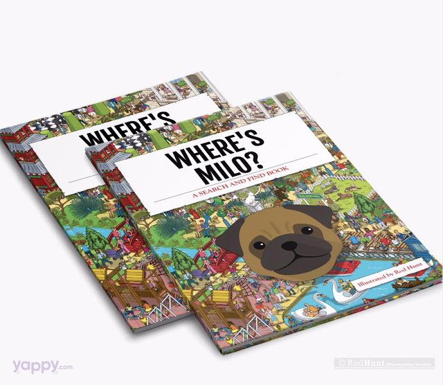 Personalised Illustrated Dog Book - Search and find - Christmas Gift for Dog Lovers
