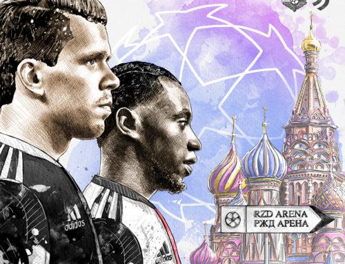 Illustration For Juventus: Szczęsny & Matuidi in Moscow