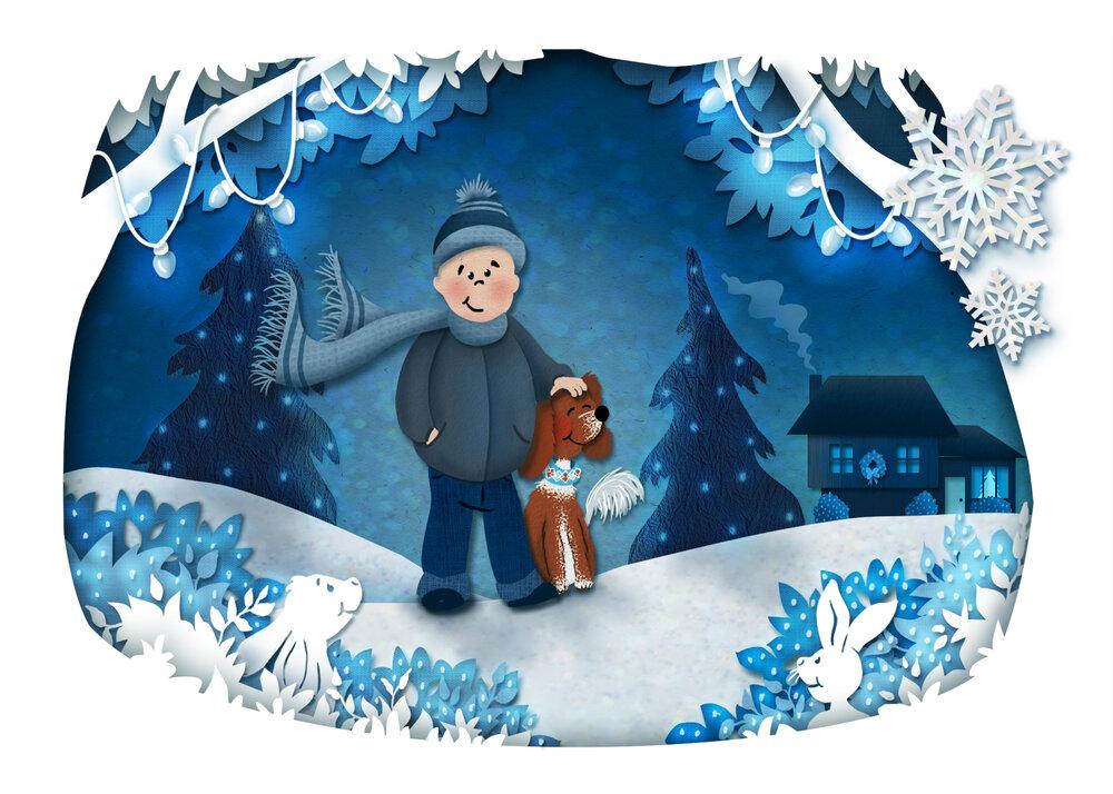 Digital Art - Christmas Card design