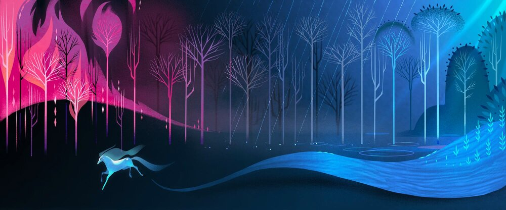 Frozen 2 concept art by Britney Lee