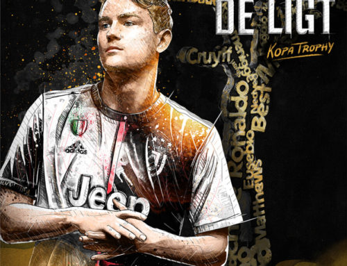Illustration For Juventus: Kopa Trophy for Matthijs De Ligt