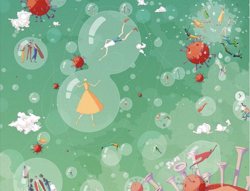 A detailed conceptual illustration about the social bubbling…