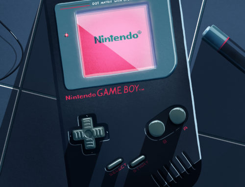 Nintendo Game Boy Illustration 3/4