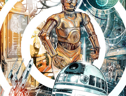 Illustration by Chris Malbon for Star Wars, depictinga scene…
