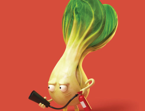 Inflammation Pak Choi character created by MDI Digital for…