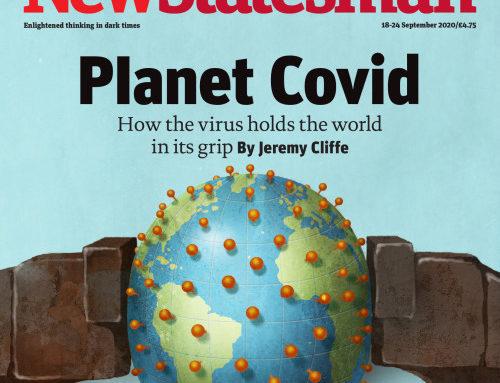Recent cover of New Statesman created by Jon Berkeley.