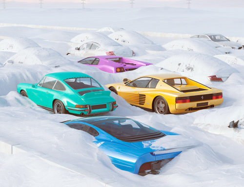 Cars In The Snow by Chris Labrooy.