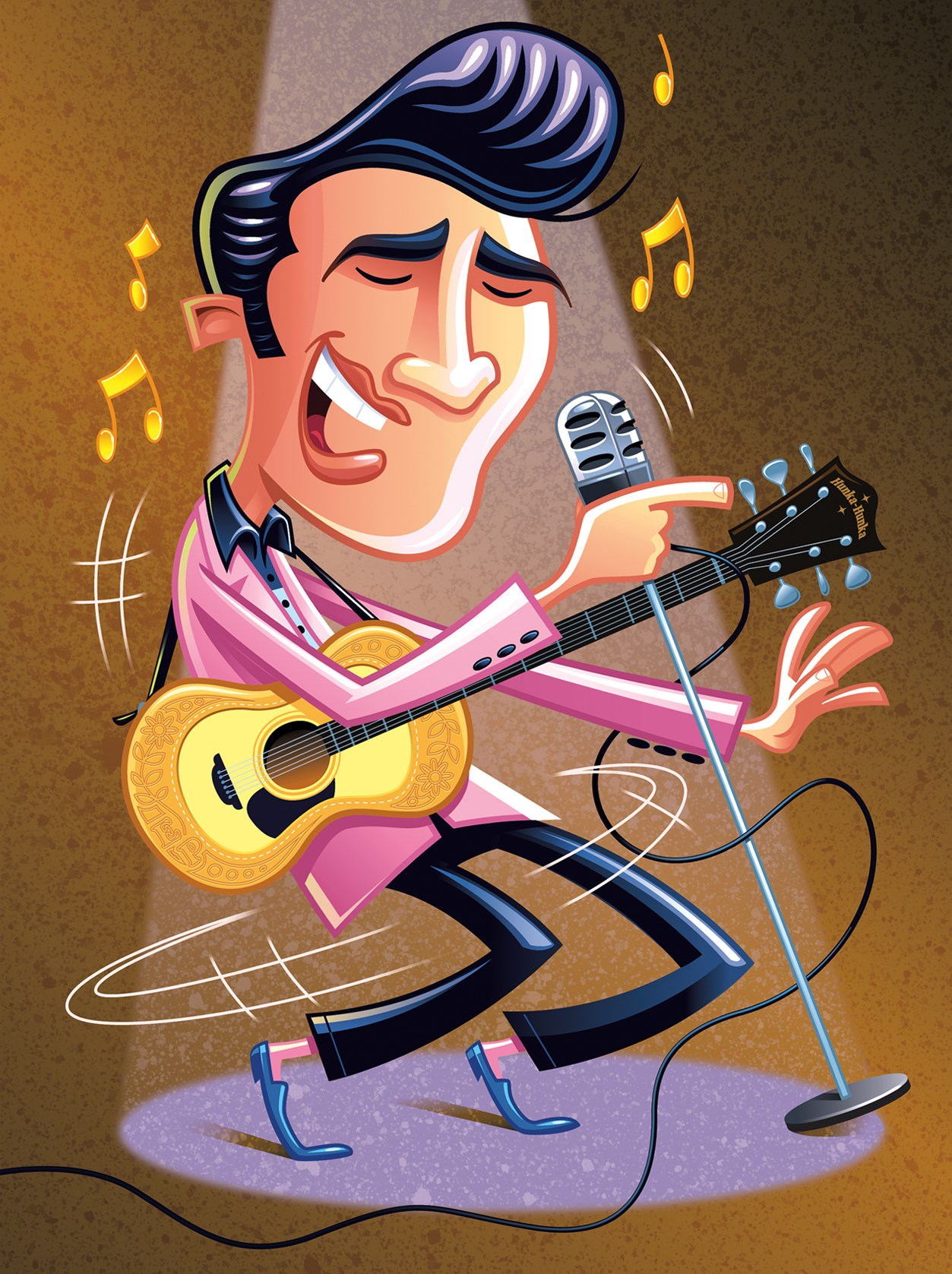 Gary LaCose character art illustration of Elvis Presley